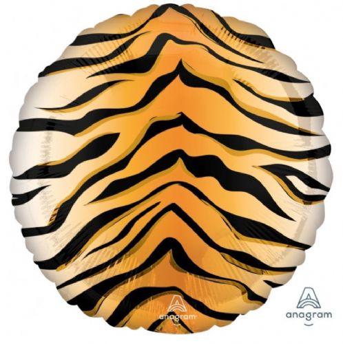 "Anagram 18"" Tiger Print Foil Balloon Unpackaged"